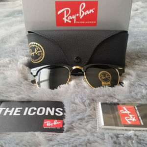 New Authentic Ray-Ban Clubmaster RB3016